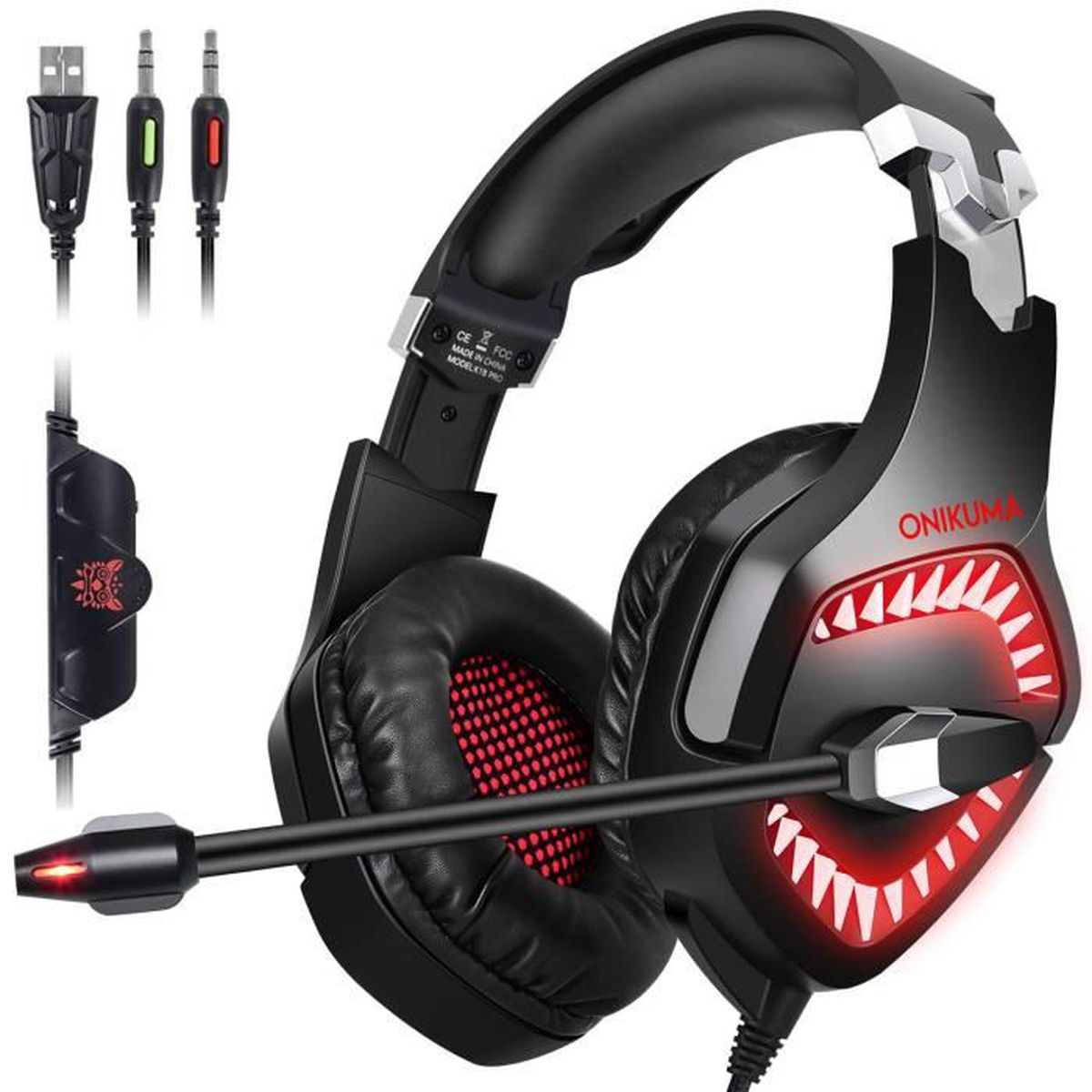 CASQUE AVEC MICROPHONE Casque Gaming Switch PS4 Xbox one Casque Gamer ave