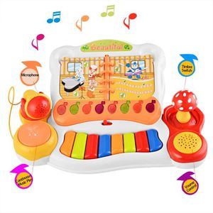 enfants jouet musical clavier piano avec microphone achat vente instrument de musique. Black Bedroom Furniture Sets. Home Design Ideas