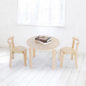 TABLE DE CUISINE  Ensemble de table et 2 chaises en bois massif pour