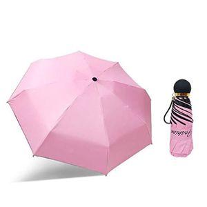 LLFS Poche UV Soleil Parapluie Pong/é /étanche Pliable Parapluie Sun Protection Mini Parapluie en Alliage daluminium en Caoutchouc 5/Pliable Parapluie Compact de Poche Noir Noir Taille Unique