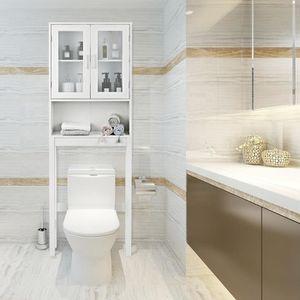 COLONNE - ARMOIRE WC Meuble de Salle de Bain Dessus Toilette Pont WC av