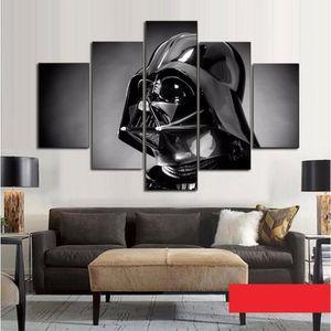 TABLEAU - TOILE Toiles imprimées 5 pieces film poster Star Wars im