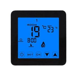 Thermostat programmable chauffage de la chaudi/ère /électrique Arxus moderne intelligent /écran tactile LCD rond 3//16A Thermostat de la salle programmable pour leau