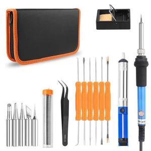 FER - POSTE A SOUDER Kit de fer à souder à température réglable portabl