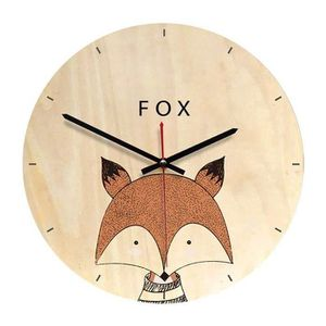 HORLOGE - PENDULE CS Horloge Murale Ronde Série d'Animaux Deco Chamb