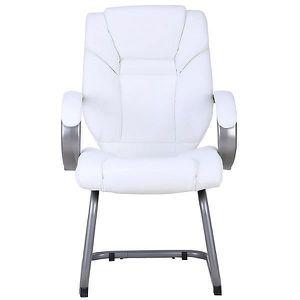 CHAISE Chaise visiteur Fiji - avec dossier haut, blanc -