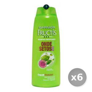 SHAMPOING Set 6 GARNIER Fructis Shampooing Ondes Setose 250