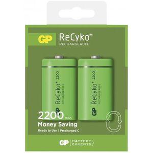 BATTERIE APPAREIL PHOTO Blister de 2 piles rechargeables Recyko C/LR14 220