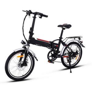 VÉLO ASSISTANCE ÉLEC 20 pouces vélo électriques montagne pliant  - velo