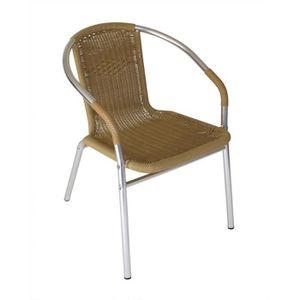 Chaise Bistrot Empilable Aluminium Assise Pvc Couleur