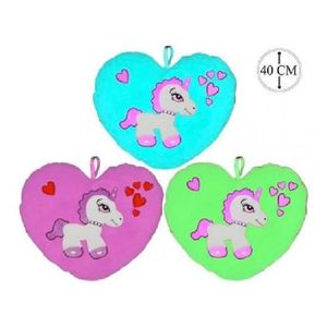COUSSIN Coussin Coeur Licorne Couleur Rose - Cheval Poney