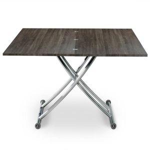 TABLE BASSE Table basse relevable Carrera Bois Vintage