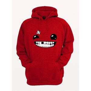 SWEATSHIRT Sweat Shirt Super Meat boy funny face