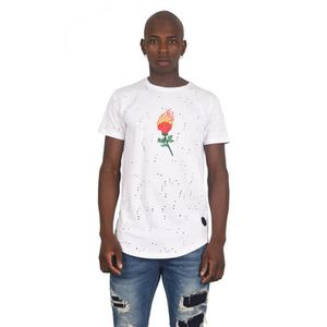 205e733dd Tee-shirt destroy brodé Rose on Fire Homme Project X Paris (XL ...