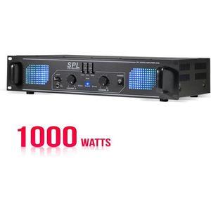 AMPLI PUISSANCE Amplificateur sono 2 x 500 W avec égaliseur 3 band