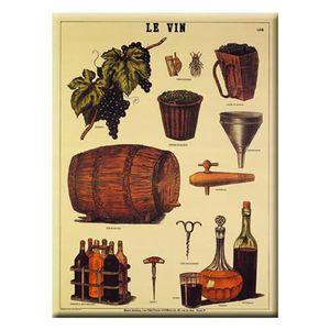 AFFICHE - POSTER Carte et Poster Métal 'Le Vin' 40 x 30cm