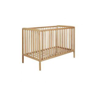 LIT BÉBÉ Lit bébé à barreaux 60x120 en bois naturel LT0002