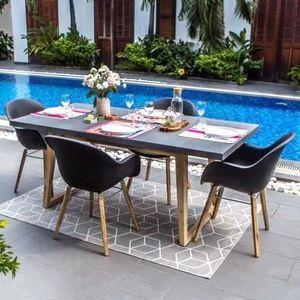 Ensemble table et chaise de jardin Ensemble de mobilier de jardin - 4 places - 1 tabl