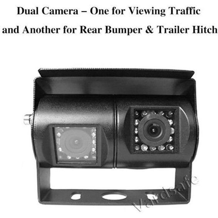 Caméra de recul à Double Objectif pour Camping-Car, Camion, RV