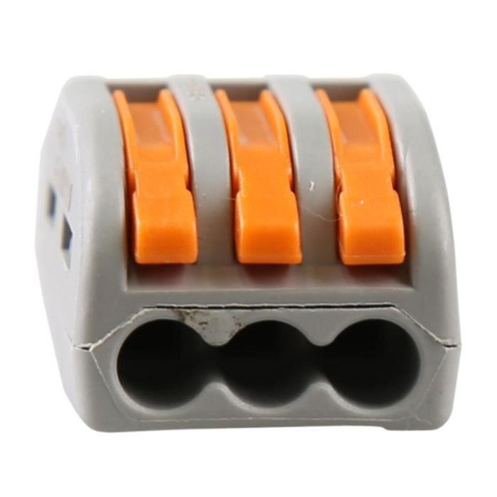 12 pcs Universal Compact Cablage Bornier Mini Connecteur Rapide Conducteur à Encastrer Wago Connecteur Fil Connecteurs PCT-213