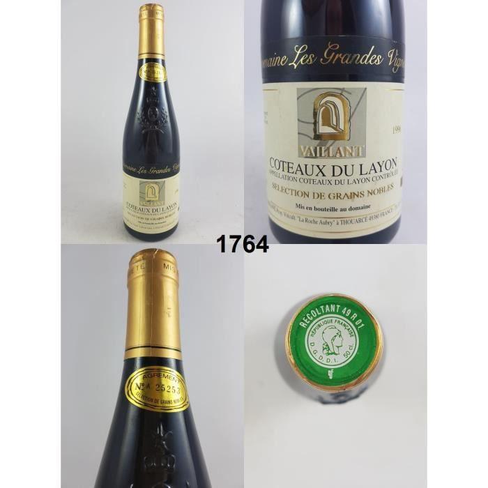 Coteaux du Layon - Domaine Les Grandes Vignes (50 cl) 1996 - N° : 1764, Coteaux-du-Layon, Blanc