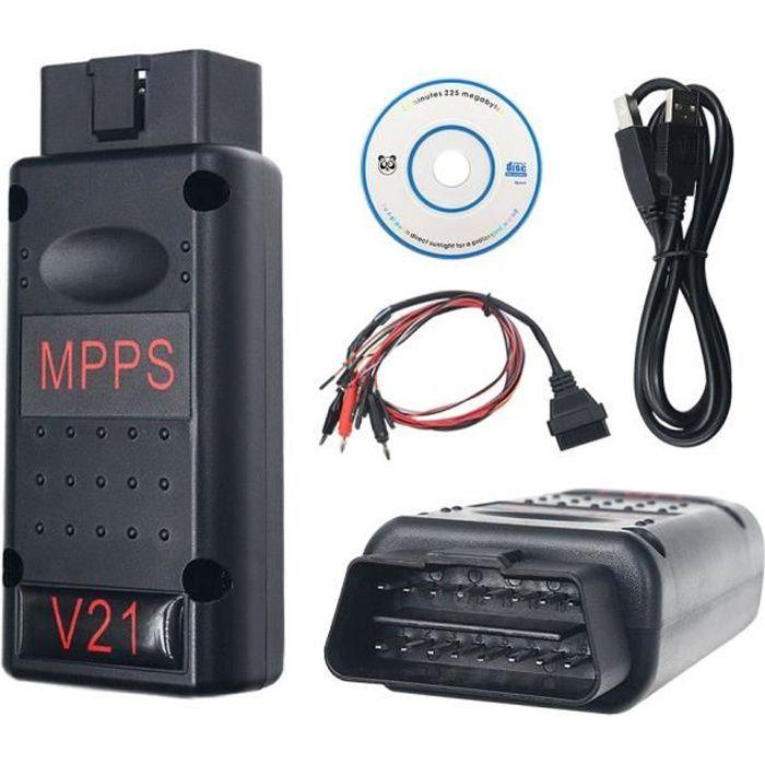 MPPS V21 PRO - REPROGRAMMATION CARTOGRAPHIE DEFAPAGE EGR FAP AIRBAG