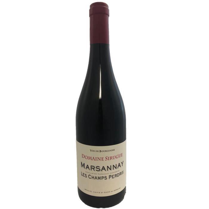 Marsannay les Champs Perdrix 2018 Domaine Sirugue - 75 cl - Vin Rouge AOP de Bourgogne - Cépage Pinot Noir