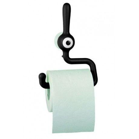 Dévidoir papier WC TOQ - Noir