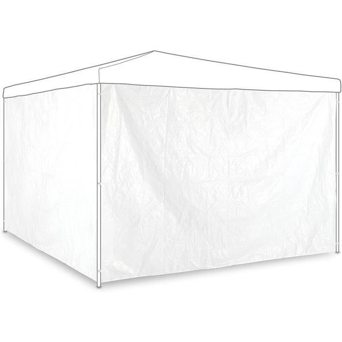 TONNELLE Paroi latérale tonnelle, Lot de 2, Panneau pour pavillon 3x2 m, imperméable, sans fenêtres, Plastique, Blanc1012