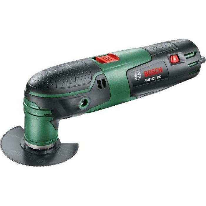 Outil multifonctions Bosch - PMF 220 CE (220W, livré avec accessoires, interface Starlock)