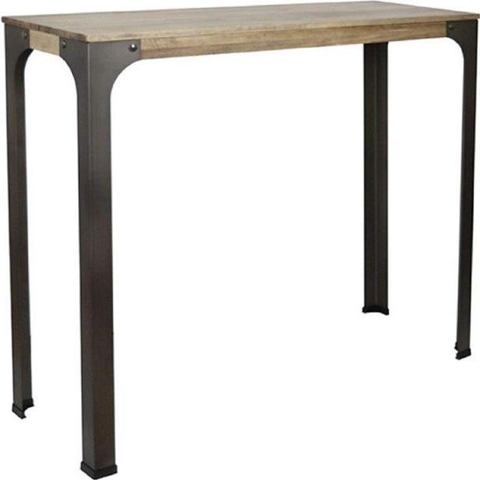Table Mange debout Bristol 110x70x108cm bois finition vintage style industriel