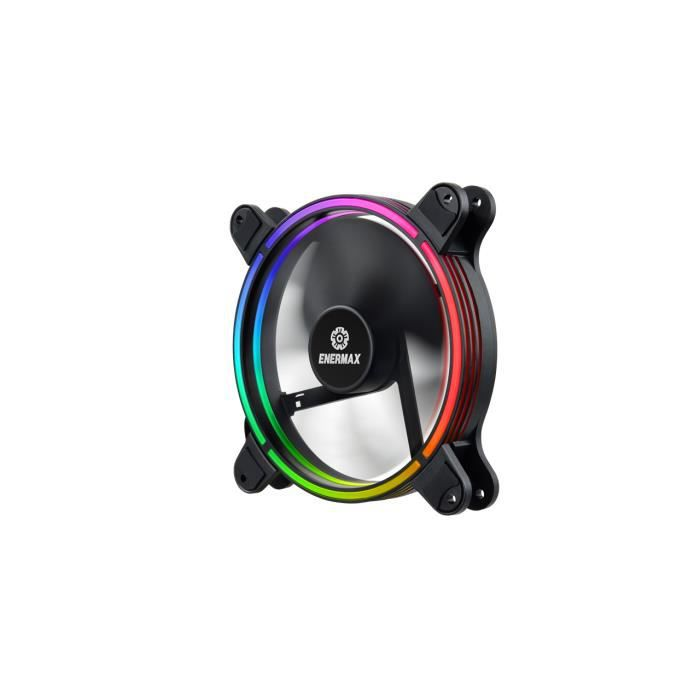 ENERMAX T.B. RGB -Ventilateur additionnel châssis - 140 mm, RGB Sync Ready, roulement Twister, pales détachable 500-1200 tours/mn