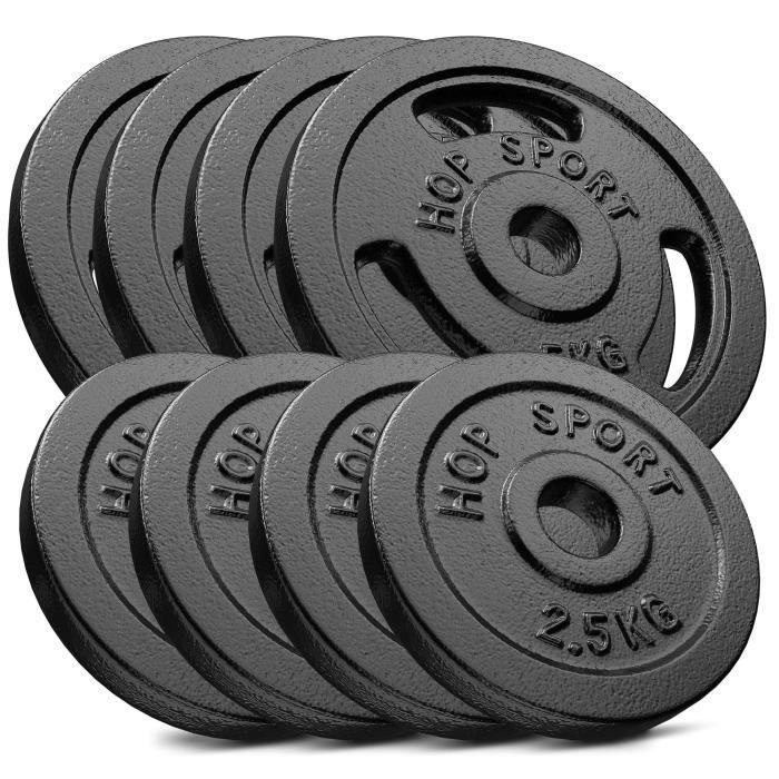 HS Hop-sport Disques en Fonte 30kg (4x5kg +4x2,5kg) SET B