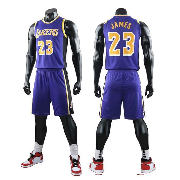 NBA LAKERS NO.23 James Maillot et Shorts de basketball Homme  - Violet