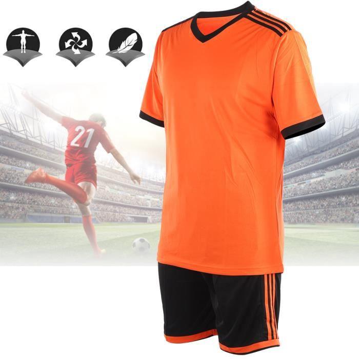 Été adulte homme compétition manches courtes groupe uniforme football costume formation vêtements(S ) -COU-YUW