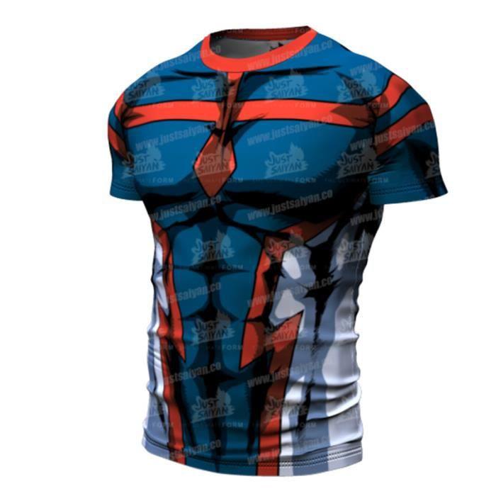 Tee shirt - d'été My Hero - Noir-Rouge-clair