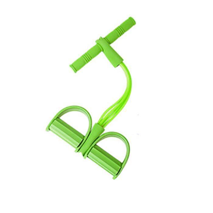 4 bandes de résistance de tube exercice de pédale de latex sit-up tirez la corde Expander bandes élastiques vert