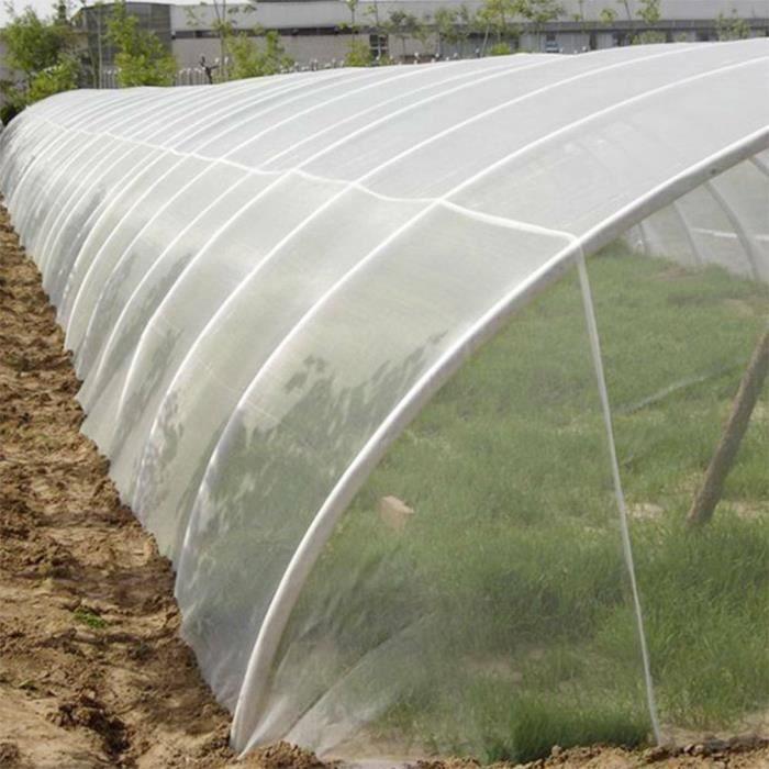 Filet de protection anti-insectes en maille fine pour jardin, serre, plantes, fruits, fleurs, cultures 2.5x10m