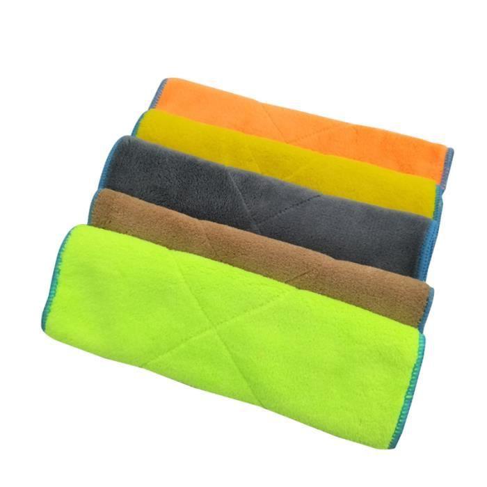 5 serviettes de nettoyage de voiture de de chiffon de polissage pour fenêtre EPONGE - PEAU DE CHAMOIS - MICROFIBRE - CHIFFON