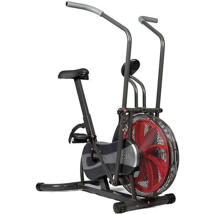 SportPlus - Vélo d'appartement - Fan bike - Résistance réglable en continu (par système éolien)