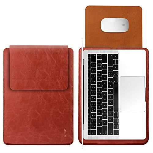 TECOOL 13 Pouce Housse pour Ordinateur Portable, Laptop Sleeve Pochette Étui pour Macbook HP Envy Dell XPS - Rouge Perle