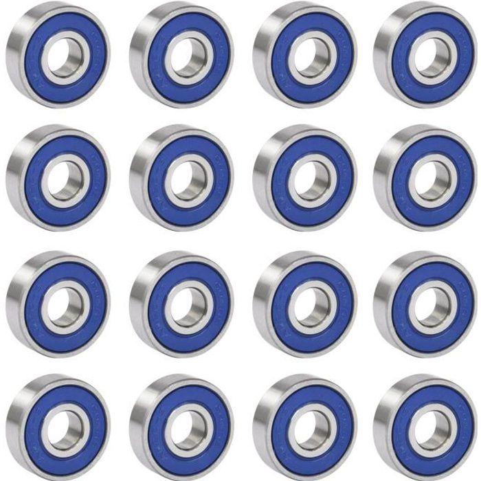 TRIXES '16 Roulements a billes ABEC 9 en acier chrome pour skateboard et patins à roulettes