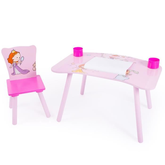 bureau table dessin avec chaise pour enfant motif. Black Bedroom Furniture Sets. Home Design Ideas