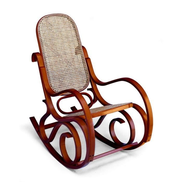 rocking chair louisiane miel achat vente fauteuil bois cdiscount. Black Bedroom Furniture Sets. Home Design Ideas