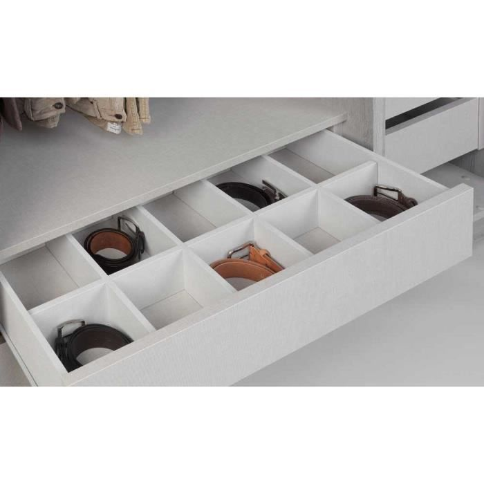 compartiment tiroir solano l 90 x h 8 x p 40 cm achat. Black Bedroom Furniture Sets. Home Design Ideas