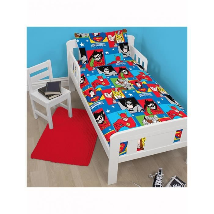 Dc super friends buddies junior rotary housse de couette for Housse de couette junior