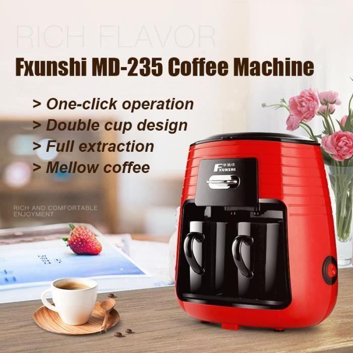 MACHINE À CAFÉ 220V 0.25L Fxunshi MD-235 Machine À Café Américain