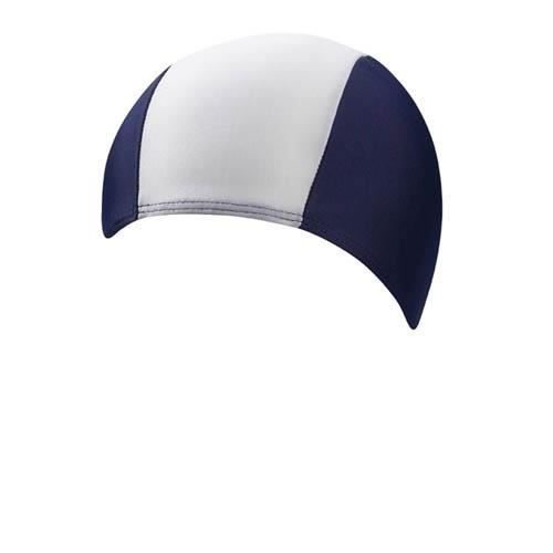 BONNET PISCINE- CAGOULE Beco bonnet de bain homme lycra bleu foncé/blanc f
