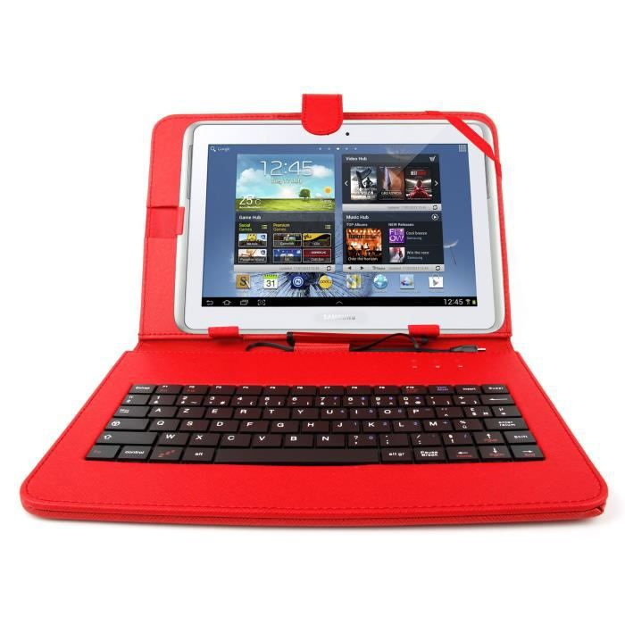 etui clavier rouge pour samsung galaxy tab pro10 1 prix. Black Bedroom Furniture Sets. Home Design Ideas