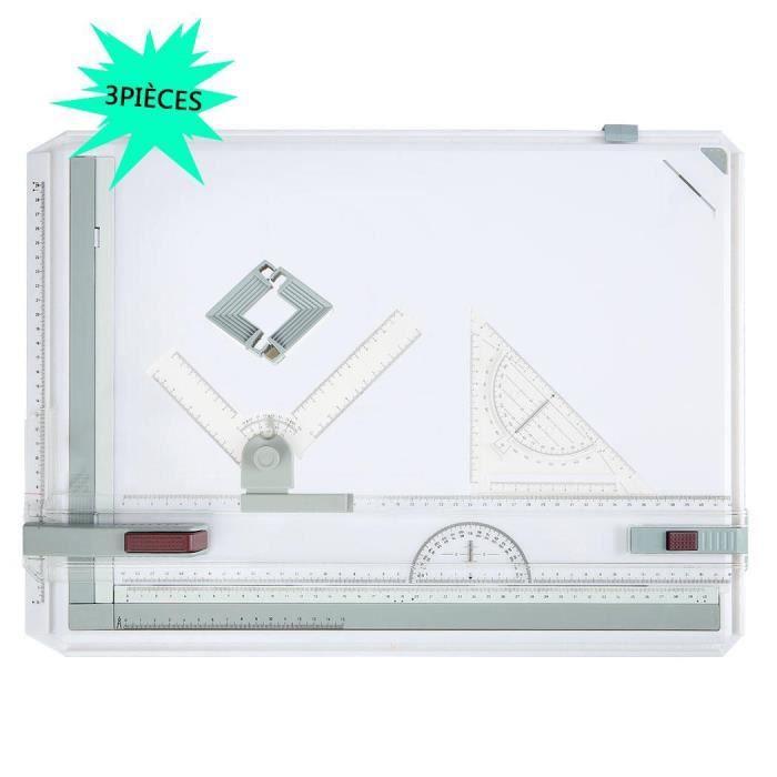 TABLE A DESSIN 3PCS Planche à Dessin A3 Drawing Board Table à Des
